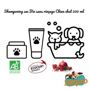 Spray Shampooing sec Bio qui nettoie le pelage des chiens et chats