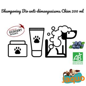Shampooing anti-démangeaisons bio pour chien toutes races