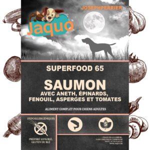 Repas saumon sans céréales pour chien