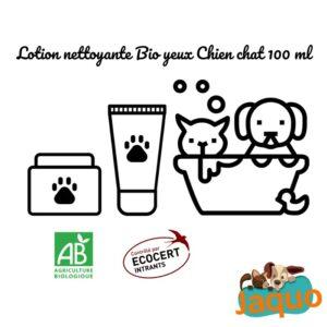 Lotion nettoyante Yeux Bio pour chien et chat