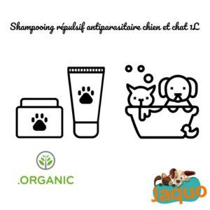 Shampooing répulsif antiparasitaire chien et chat
