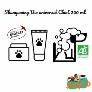 shampooing bio pour chiot ecocert jaquo